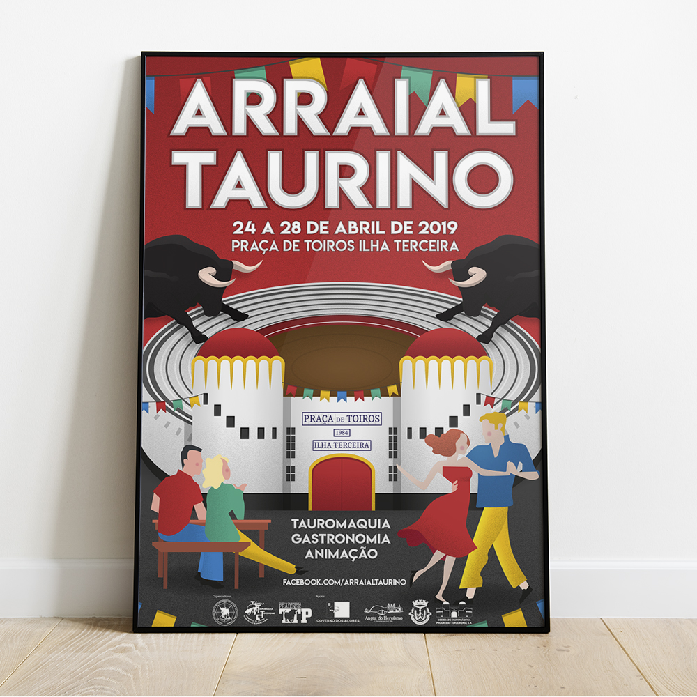 arraial taurino poster